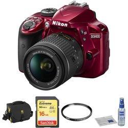 Nikon D Dslr Camera With mm Lens Basic Kit (red)