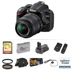 Nikon D Dslr Camera With mm Lens Deluxe Kit (black)