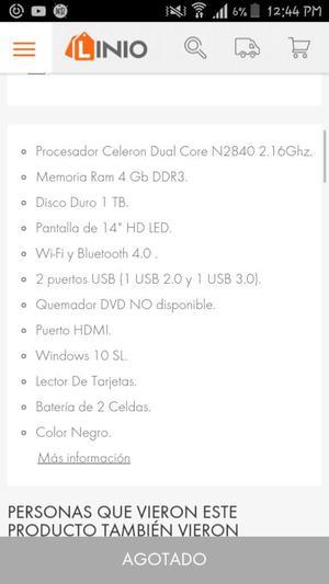 Vendo Portatil Lenovo Todtalmente Nuevo.