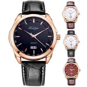 Relojes Clasicos Eleganes Para Hombre Correa Cuero,metal