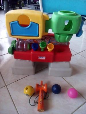 TALLER MUSICAL CON LUCES MARTILLO Y PELOTAS LITTLE TIKES