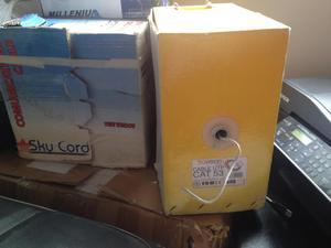 Vendo cable UTP cat 5E y cat 3 cajas empezadas