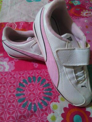 tenis para niña rosado y blanco puma originales nro. 35