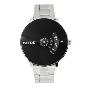 Soleasy @ Plata Negro Paidu Reloj De Pulsera De Cuarzo Tu...
