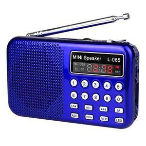 Tivdio L-065 Radio De Bolsillo Fm Digital Con Grabador De...