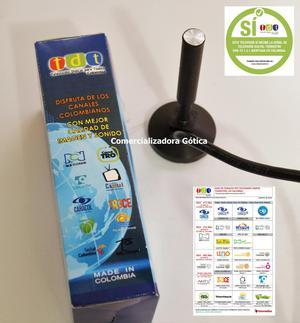 Antena Tdt Para Television En Hd Colombia Dvbt2 10 Dbi Rea