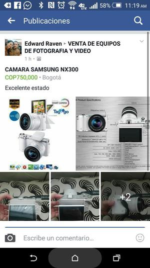 Camara Samsung Nx300