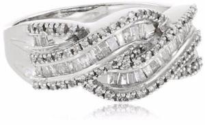 Anillo De Diamante De Oro De 10k Blanco Envio Gratis