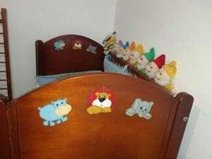 Barandas para cuna desmontable en madera posot class - Cunas de madera para bebes ...