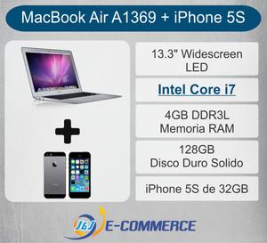 COMBO NEGOCIABLE MacBook Air 13 Core i7 iPhone 5s Sellado de