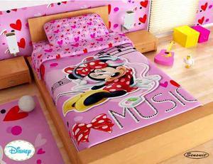 edredon disney fantasia floral 3d cama sencilla posot class