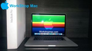 MacBook Pro, 15 pulgadas, retina, core i7, 16gb ram, 512