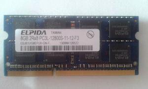 Memoria Portátil Elpida 8gb 2rx8 Ddr3 Pc3l-s