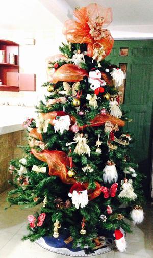 Arbol de Navidad Grande con Adornos