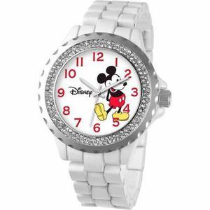 Reloj Blanco Mickey Mouse Para Mujeres W