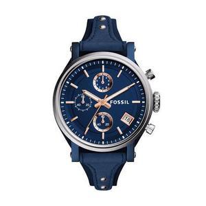 Reloj Fossil Es Cuero Azul Mujer