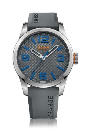 Reloj Hugo Boss  Silicona Gris Hombre