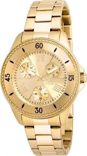 Reloj Invicta  Acero Dorado Mujer