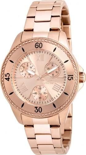 Reloj Invicta  Acero Oro Rosado Mujer
