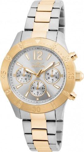 Reloj Invicta  Acero Plateado Y Dorado Mujer