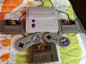 Super Nintendo con 2 Controles Y 3 Juegos