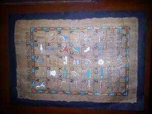 Papiro abecedario y numeros egipcio para enmarcar