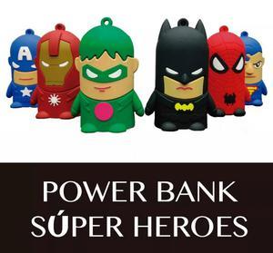 Batería Externa Portátil Power Bank Super Heroes Regalo