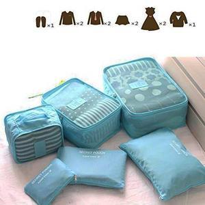 Organizadores De Maleta New Wayzon Set De 6 Piezas Azules