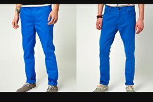 Pantalón Dril Azul talla 34 nuevo