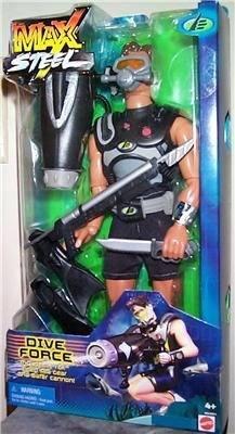 Max Steel Force Figura De Buceo
