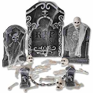Prextex Cementerio De Halloween Conjunto De Spookiest Decor
