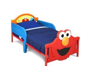Cama Infantil Plastico, Delta Children 3d Elmo Plaza Sesamo