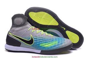 Guayos Nike Magista X Proximo 2 Gris Suela Lisa Futsal Micro