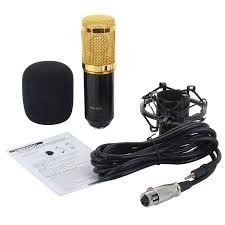 Micrófono Profesional Condensador Cable Shockmount Bm - 800