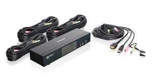 Switch Hdmi Con Audio 4 Puertos Iogear Miniview Kvm