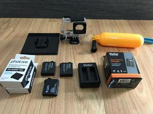 Baterias Go Pro 4 Combo Cargador Y Otros Perfecto