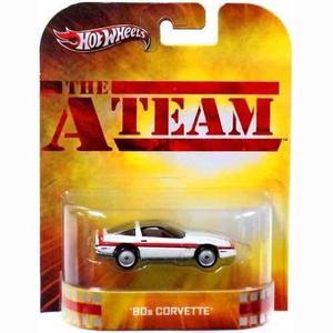 Hot Wheels The A-team 80s Corvette Die Cast Car !