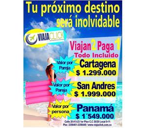LISTAS LAS VACACIONES EN SAN ANDRES,CARTAGENA,PANAMÁ