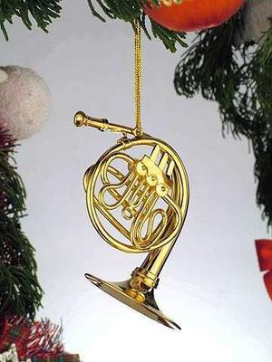 El Oro De La Música De La Trompa Musical Ornamento Del Nuev