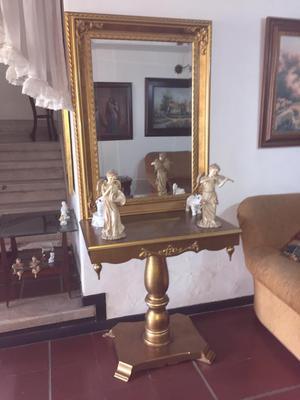 Mesa con espejo estilo barroco posot class for Mesa espejo