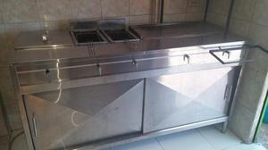 Cocina full acero posot class for Implementos de bano