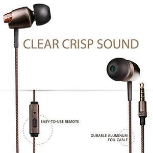 Inateck Premium Wood In-ear Corded Earphone Earbud !