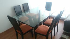 Juego comedor 6 sillas occidente bogot posot class for Comedor 6 sillas usado