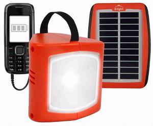 Lampara solar mas cargador de celular
