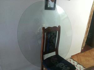 Mesa de comedor redondo con vidrio posot class for Juego de comedor redondo de vidrio