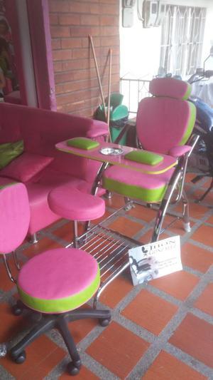 Lavacabezas sillas para manicure y cali2 posot class for Muebles peluqueria economicos