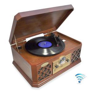 Bluetooth Clásico RETRO TOCADISCOS CD CASSETTE AM/FM