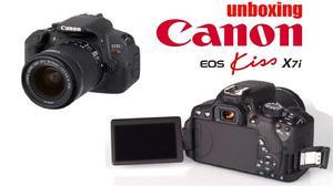 cámara canon kiss7i con lente 50 mm 1.8