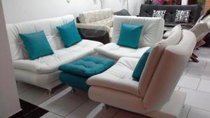 Sala kioto reclinable con sofa de 2 puestos y 2 poltronas