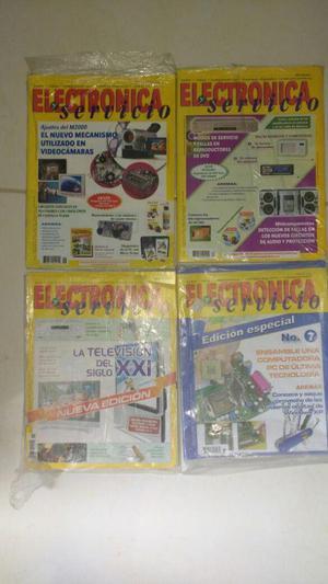 Colección revistas de electrónica y servicio argentinas.
